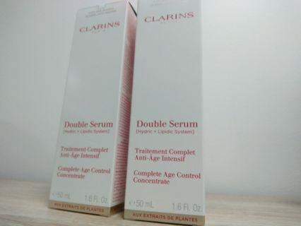 2 brand new Clarins Double Serum 50ml each