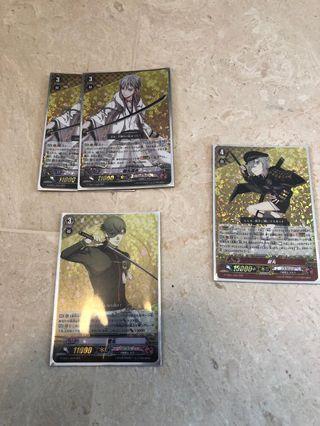 Touken Ranbu Cardfight Vanguard RRR Rare Cards Version 1