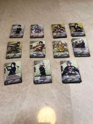Touken Ranbu Cardfight Vanguard Cards Rare Cards Version 1