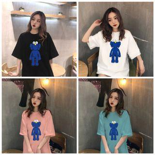 PO #AL67 - Blue Kaws Oversized Top (Unisex)