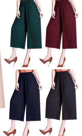 Wholesale korean Pleated Culottes