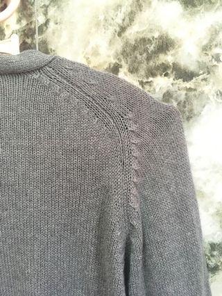 Cardigan knitted Grey