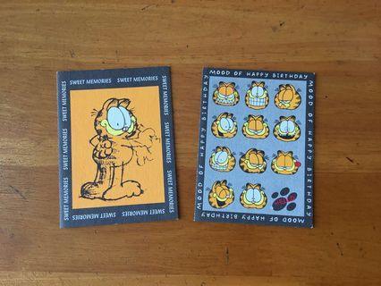 加菲貓 (Garfield) 卡 (20 周年) 2 張