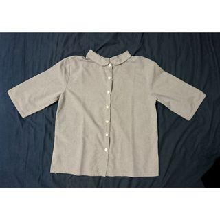 設計感五分袖襯衫