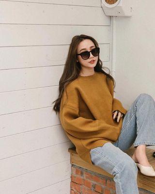 Mercci22 時髦駝色毛衣