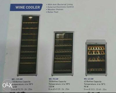 Brandnew Fujidenzo Wine Cooler 43 70 120 bottles