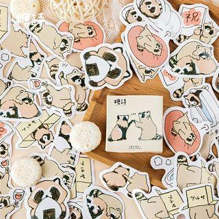 [ PO ] Cute Raccoon Sticker Box