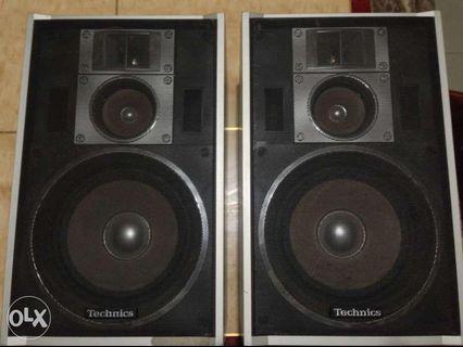 Vintage 80s Technics Bookshelf Type Speakers