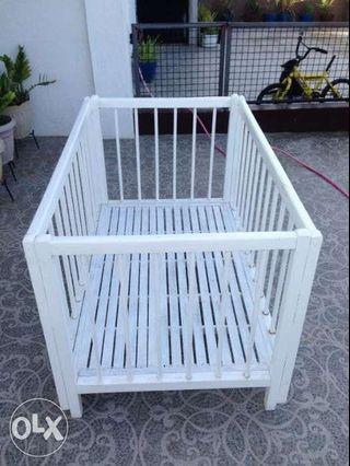 Wooden Baby Crib Playpen