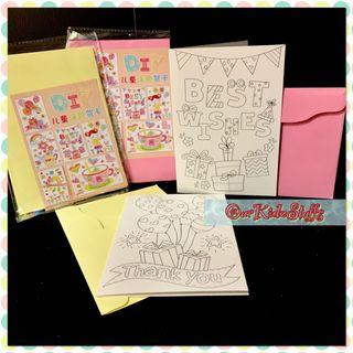 Children Greeting Card Colouring #AnywhrCarousell
