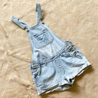 Denim Jumpsuit / Romper / Jumper Shorts