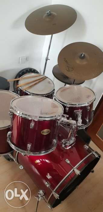pearl target drum set rush sale music media music instruments on carousell. Black Bedroom Furniture Sets. Home Design Ideas