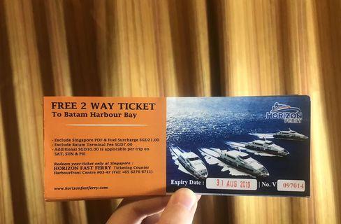 Batam 2 Way Ferry Tickets