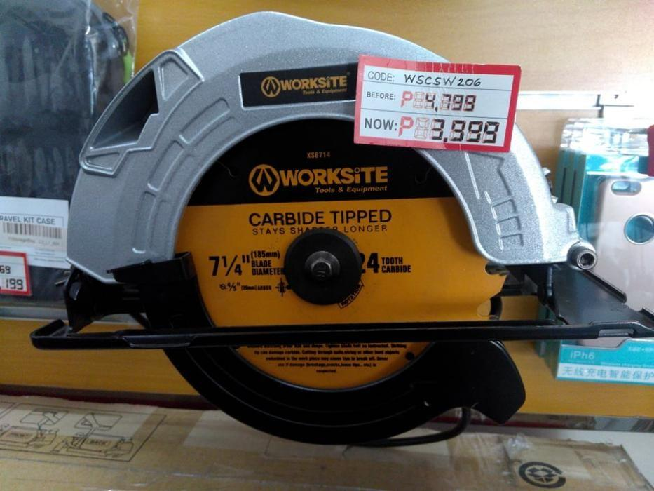 Corded Saw Worksite Brand Model Csw206 Construction Industrial Construction Tools On Carousell