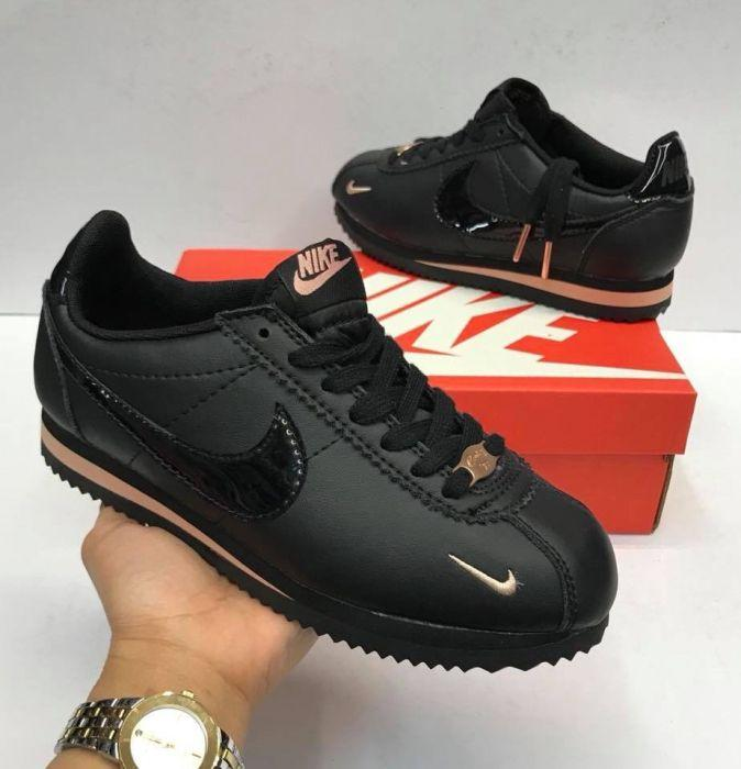 in stock 70c1f 1dd15 Nike Cortez Black Rose Gold for Women on Carousell
