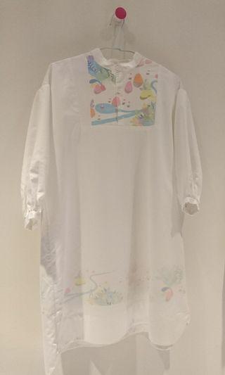 簡單系白色洋裝(童趣)