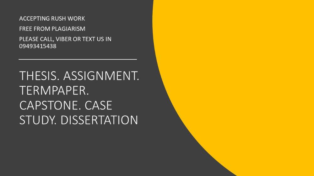 Thesis Research Case Study Assignment Term Paper Dissertation