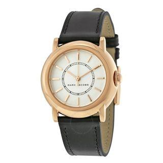 NEW Marc Jacobs Courtney Black Leather Analog Ladies Watch MJ1450