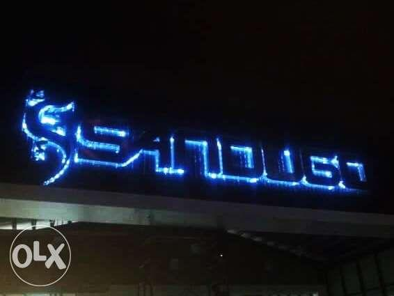 SIGNAGE MAKER Stainless Brass Neon Sign Pylon ACP accept rush