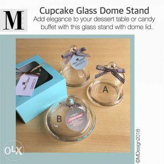 Cupcake Glass Dome Stand