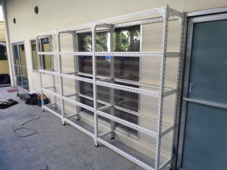 Steel Rack - Bolt and nut slotted angle bar - powder coated