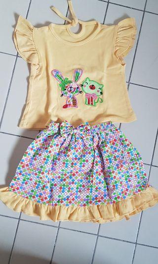 Set baju baby cewe