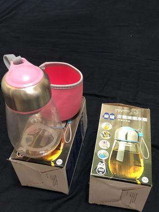 耐熱玻璃水瓶(附布套)