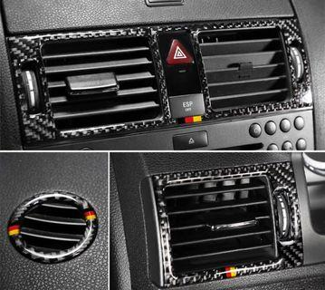 Mercedes Benz C-Class W204 Air Conditioning Vent Carbon Fiber Trim