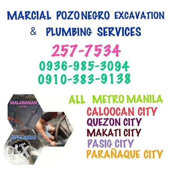 Marcial Malabanan Sipsip Pozo Negro Plumbing Tubero Declogging Service