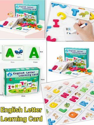 English Letter Learning Card 練字套裝+字母卡