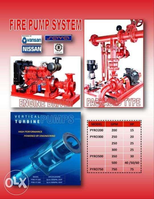 Fire Pumps Jockey Pumps Vertical Turbines Constant Pressure System