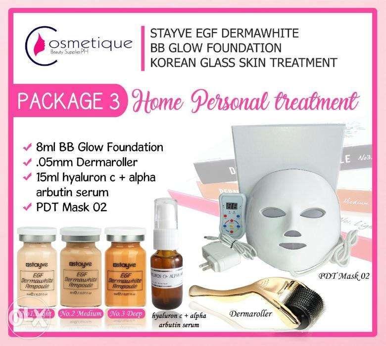 Derma Roller wid PDT Mask BB Glow Package 3 Facial Slimming Machine