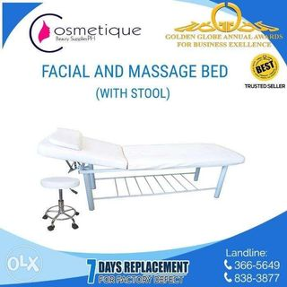 2in1 facial and massage bed with stool