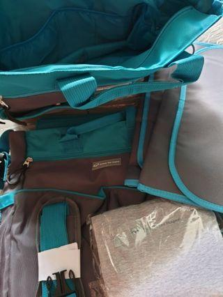 🚚 New 2 Parkway East Sling Diaper Bag (many compartments) with diaper changing mat. Buy 2 free new nursing cover. 2 for $12. 1 for $7