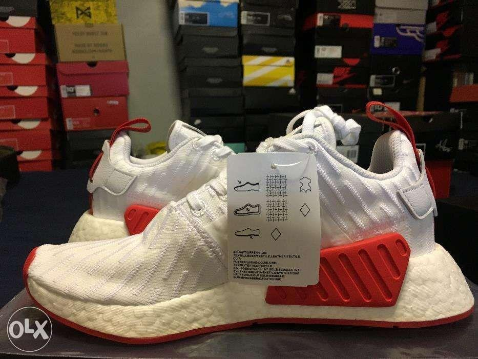 Adidas Nmd R2 White Red Brand New Women S Fashion Shoes