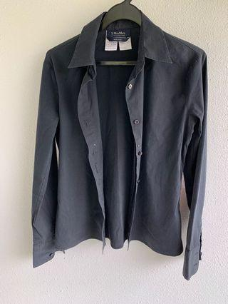 Max Mara black blouse shirt UK 6