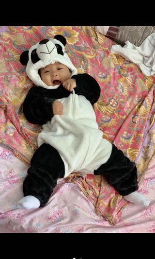 Baby Panda Onesie Kigurumi Costume Pajama Jumpsuit