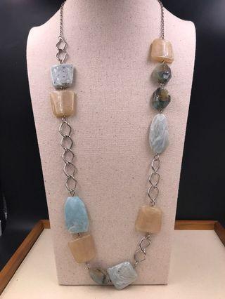 出口歐美 人造首飾 -  仿半寶石頸錬 (EXPORT Europe / USA Fashion Jewellery Long Necklace - Imitation Opaque Stone) About 80cm