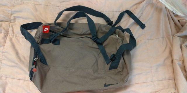 Nike 卡其色純棉帆布提袋
