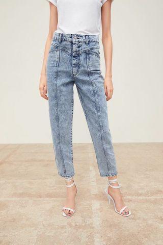 Zara Premium 80's Baggy Acid Washed Jeans