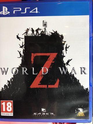 「花枝女」PS4 二手 末日之戰 Z末日 Z戰 World War 亞版中文版