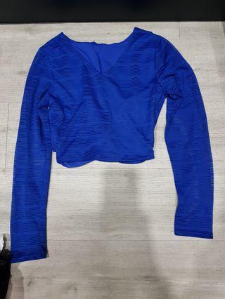 🚚 Blue Crop Top
