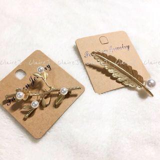【預購】韓國胸針 羽毛 & 珍珠樹杈