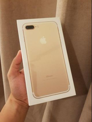 Iphone 7 plus 32g Gold Smart Locked Brand New Sealed