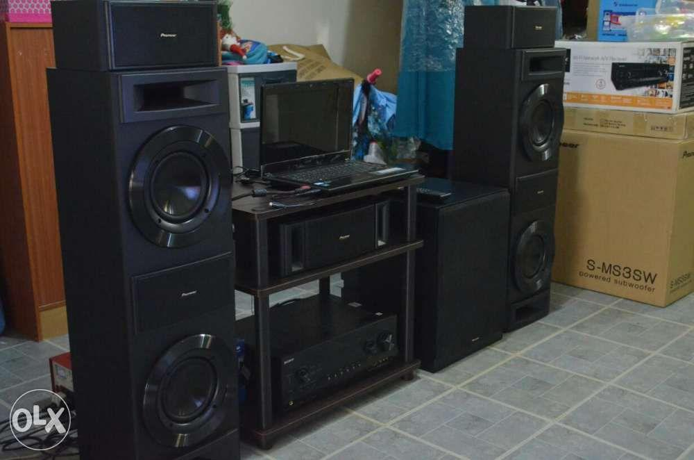 Pioneer home theater with sony 72 channel receiver samsung
