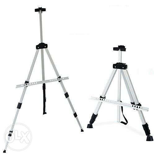 Easel Stand Silver Tripod Menu Poster Stand Drawing Painting Portrait