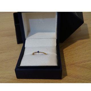 全新絕版品 日本 VA Vendome Aoyama  K10誕生石藍寶石戒指