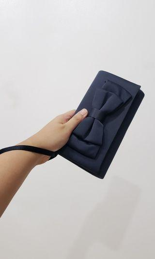 !RUSH SALE! Debenhams Debut dark blue satin clutch