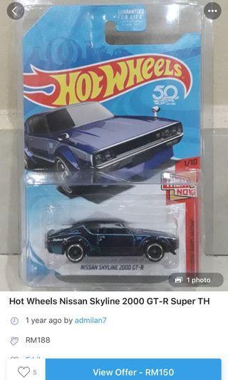Hot Wheels STH skyline 2000 GT-R
