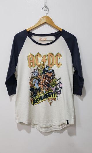 !RUSH SALE! Cotton On AC/DC graphic baseball tee